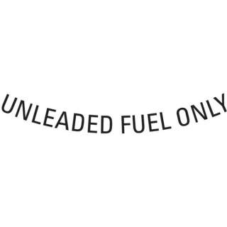 "Dekal ""Unleaded Fuel Only"""